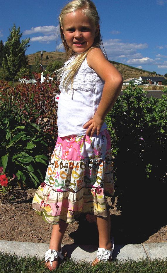 elastic waist girls skirt