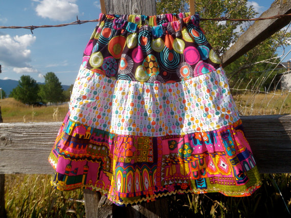 bright 3 tier skirts