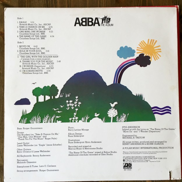 Abba The Album backside
