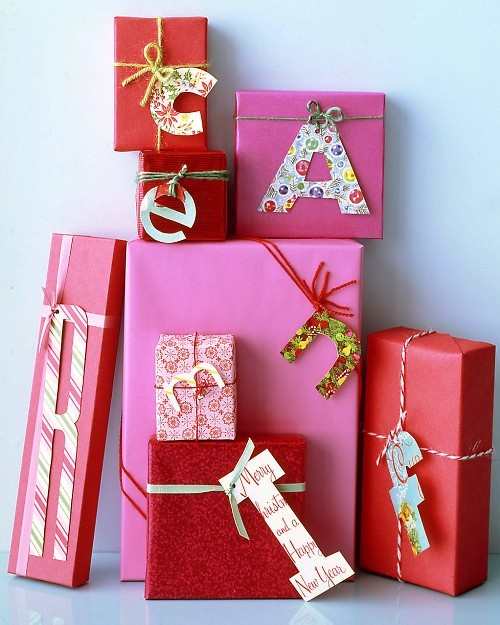 gift wrap with letters