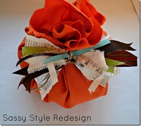 junk fabric bow