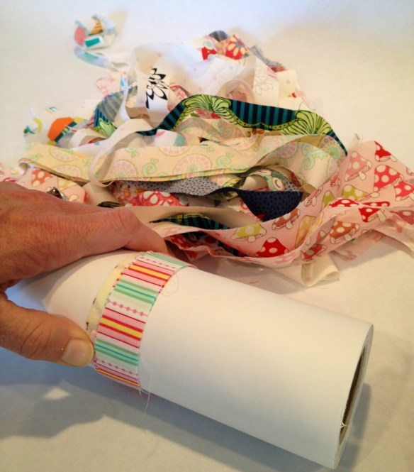 wrap the fabric scraps