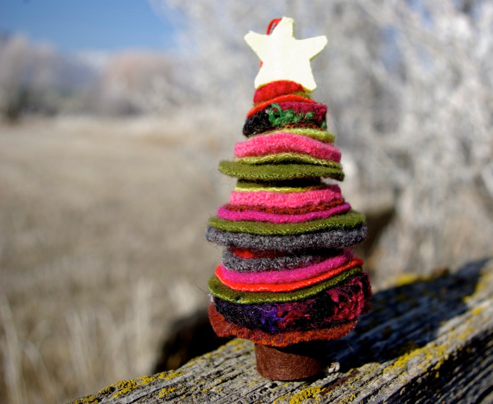 felted wool tree