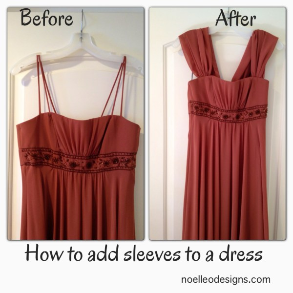 Add Sleeves Strapless Dress