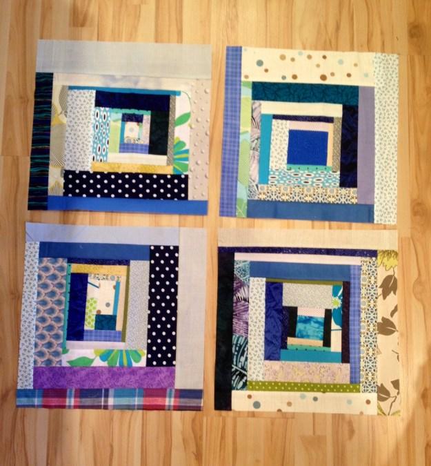 trimmed quilt squares
