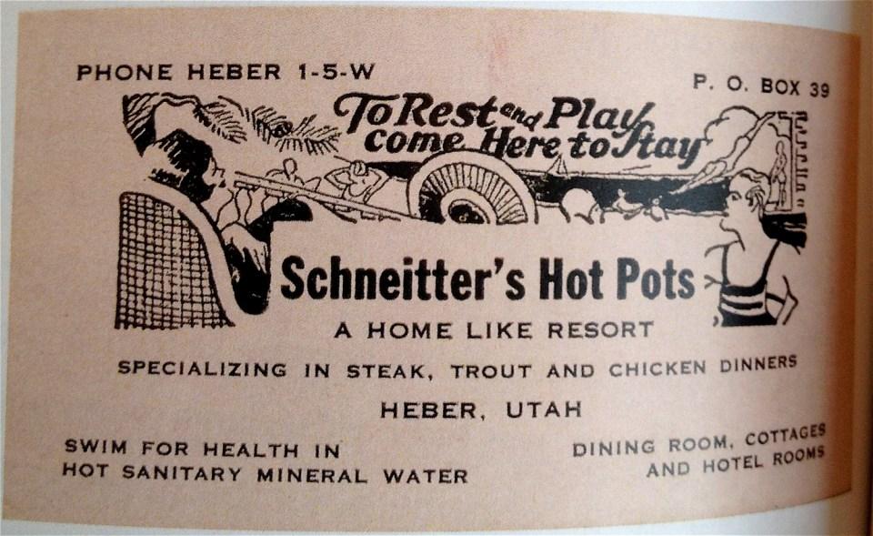 Schneitter's Hot Pots, Midway UT