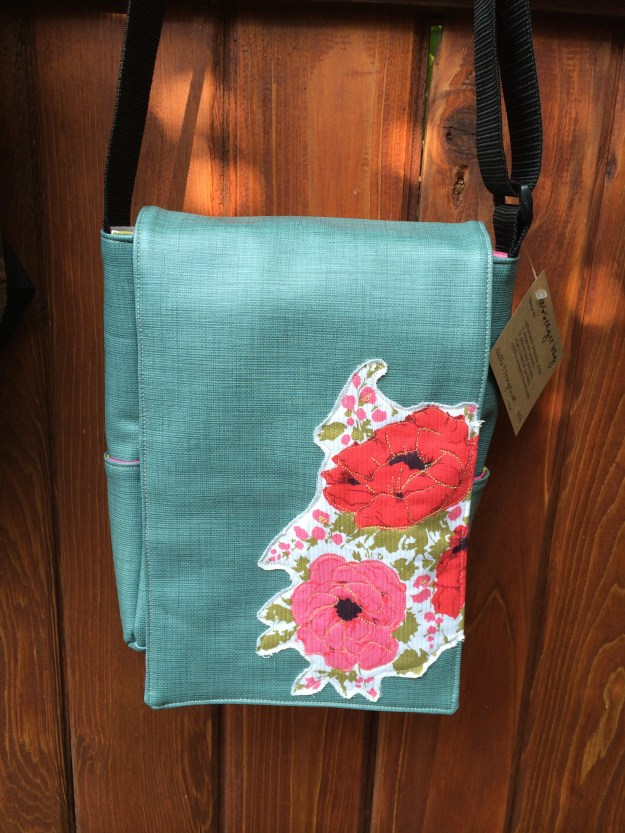 vinyl bag with flowers