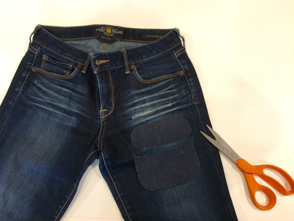 how to fix a hole in jeans