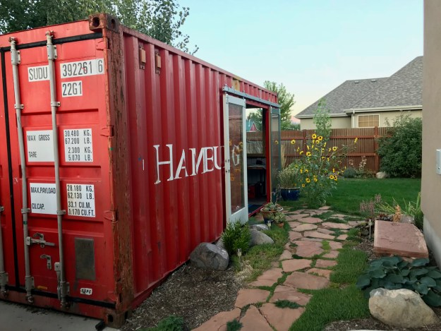 backyard shipping container