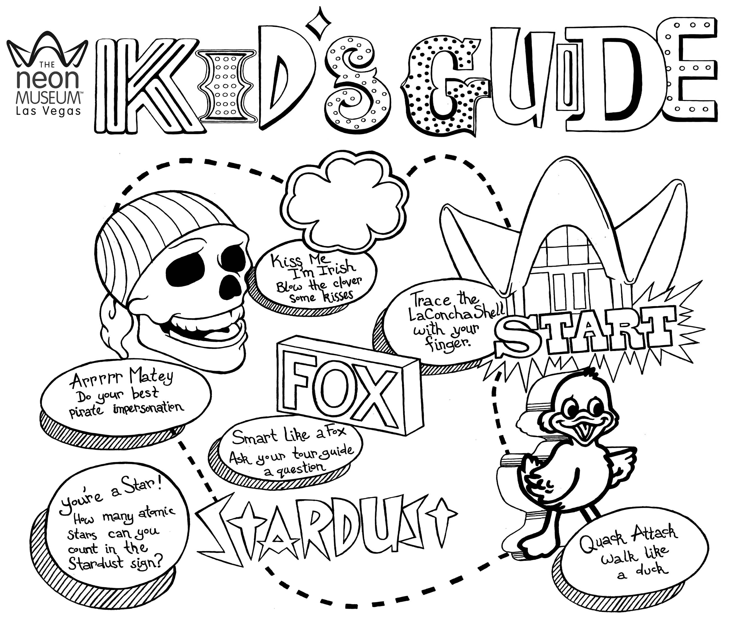 Complete! Kids Activity Sheets for the Neon Museum