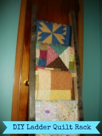 DIY Ladder Quilt Rack!
