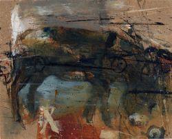 Noel Murphy Donkey acrylic on board 15x19cm 2012