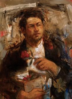 Man With Box oil on canvas 71x50cm 2011b