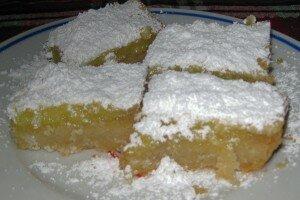 Lemon Bars On Brown Butter Shortbread