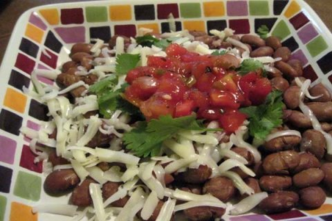 Slow Cooker Pinto Beans Plated
