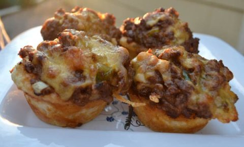BBQ Beef Muffin Pies