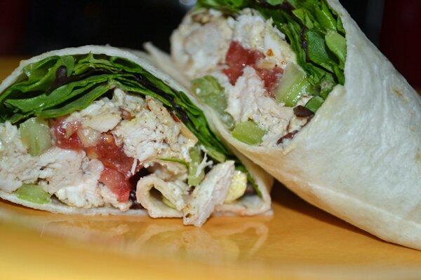 Chicken Salad Sandwich Wraps