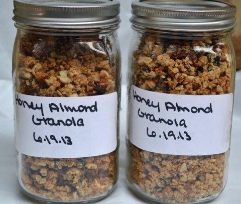 Homemade Honey Almond Granola