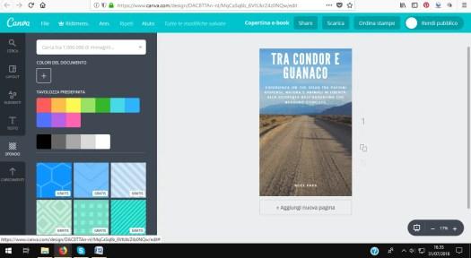 la creazione della copertina del libro grazie ai software online come Canva