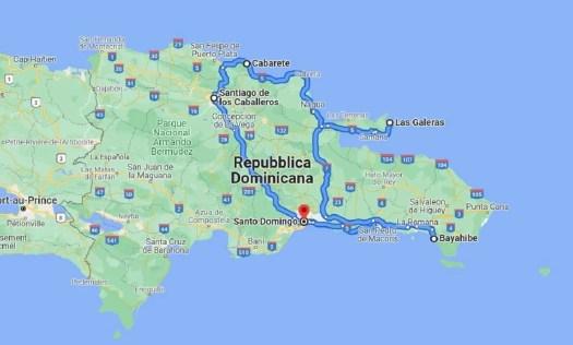 itinerario completo del viaggio di trekking in Repubblica Dominicana