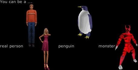 Esempi di avatars in Worlds