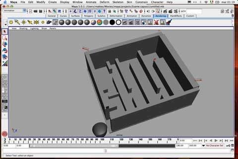 Creare un'animazione con Maya