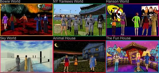 Alcuni mondi di Worlds.com