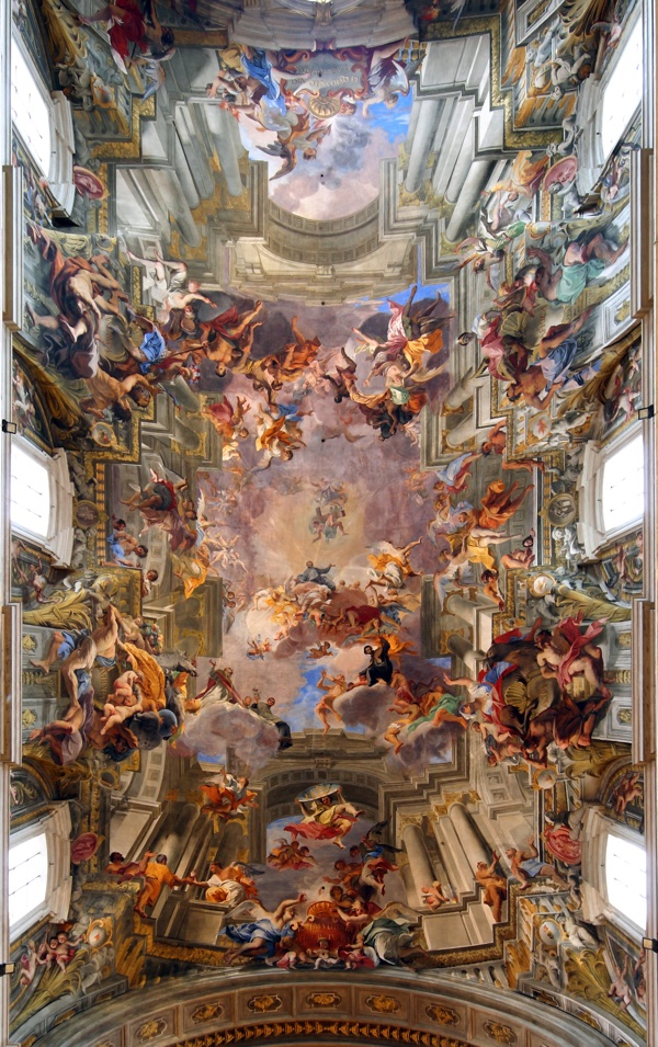 "Fig. 2 - ""Glory of Sant'Ignazio"" by Andrea Pozzo (Photo Bruce McAdam)"
