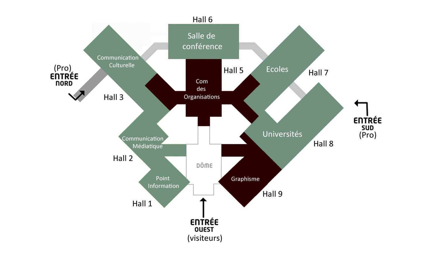 Plan Du Salon  Eurexpo  Salon des Mtiers de la Communication