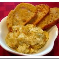 Hot Artichoke Dip with Crispy Bread RoundsRecipe
