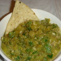 Roasted Green Tomato Salsa