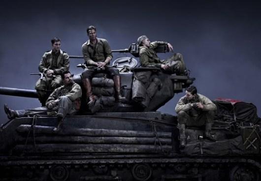 Primera imagen de 'Fury' con Brad Pitt, Shia LaBeouf, Logan Lerman, Michael Peña y Jon Bernthal
