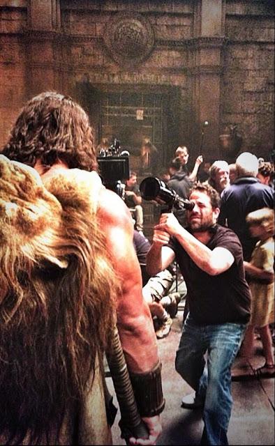 Nueva de foto Dwayne Johnson en 'Hércules' con el director Brett Ratner