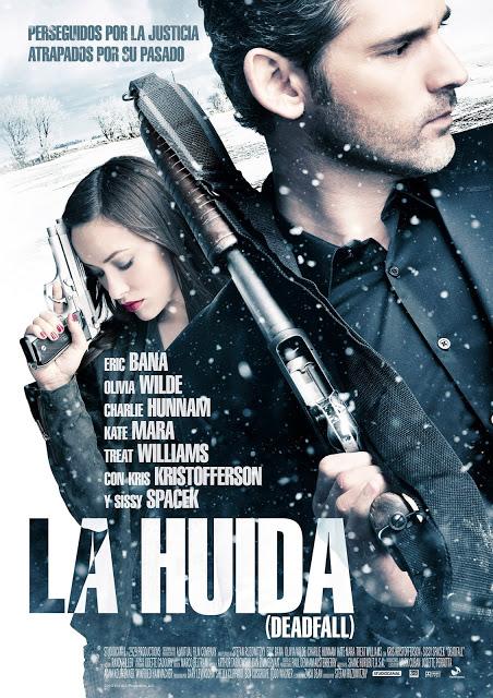 Póster español de 'La Huída', con Eric Bana y Olivia Wilde