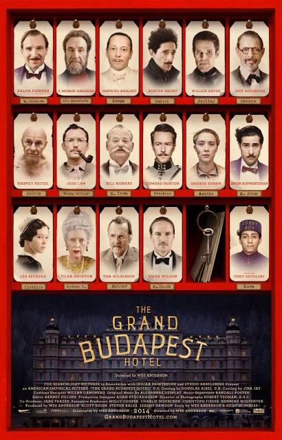 Póster con todo el reparto de 'El Gran Hotel Budapest'