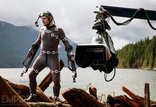 Nueva imagen de rodaje de 'El amanecer del planeta de los simios' con Andy Serkis