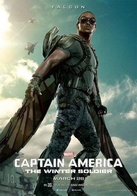 Anthony Mackie consigue su propio póster para 'Capitán América: El Soldado de Invierno'