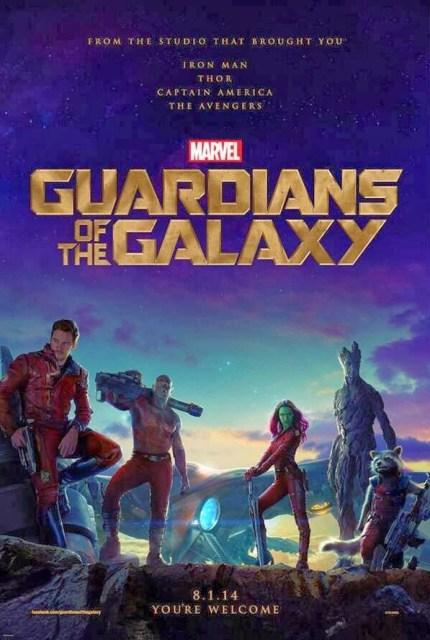 Póster oficial internacional de 'Guardianes de la galaxia'