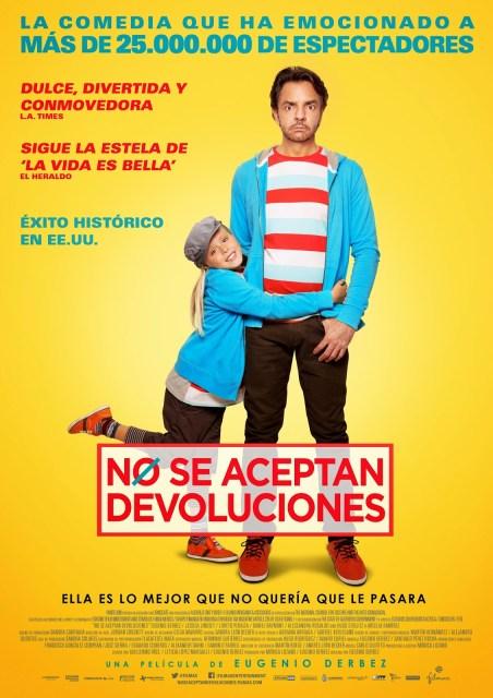Póster español de 'No se aceptan devoluciones', la película latina más taquillera de la historia en USA