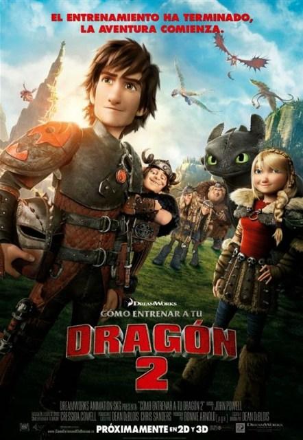 Póster y tráiler español de 'Cómo entrenar a tu dragón 2'