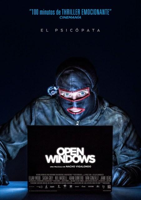 Nuevo póster de 'Open Windows' de Nacho Vigalondo, que gana el premio Mejor Guión en Fantaspoa