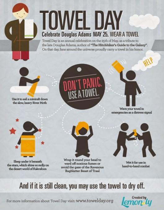 """Hoy es """"El día de la toalla"""" de 'La guía del autoestopista galáctico'"""