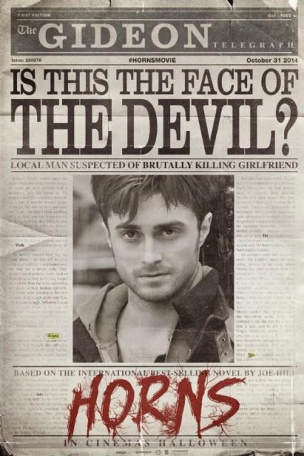 Daniel Radcliffe alardea de cuernos en el póster y tráiler de 'Horns'