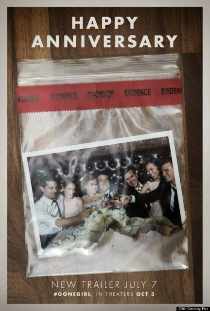 Cuatro teaser pósters de 'Perdida' ('Gone Girl') de David Fincher con Ben Affleck