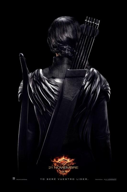 Póster de 'Los Juegos del Hambre: Sinsajo - Parte 1' con Katniss como Guerrera Rebelde del Distrito 13