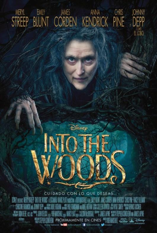 Nuevo póster de la película de Disney 'Into the woods'
