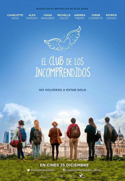 Téaser póster de 'El club de los incomprendidos', basada en la exitosa novela de Blue Jeans