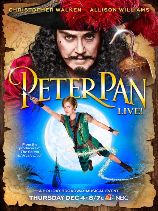 Póster de 'Peter Pan Live!' con Allison Williams y Christopher Walken