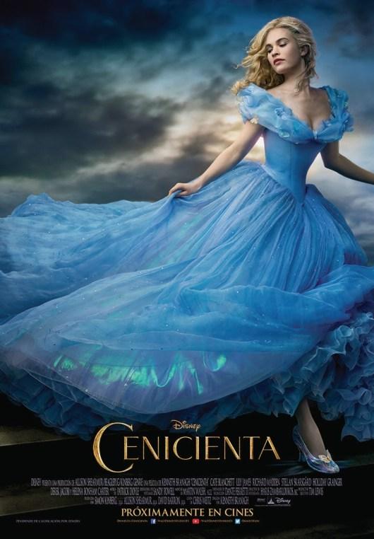 Póster y estráiler español de 'Cenicienta', nueva versión del cuento clásico de Disney