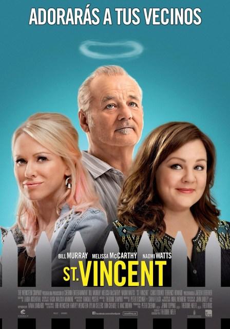 Póster oficial español de 'St. Vincent' con Bill Murray, Melissa McCarthy y Naomi Watts